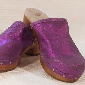 Ugg Australia Evie Girls Purple Clogs Size 1